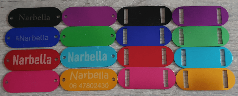 Aluminium tags Graveren