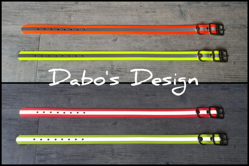 PVC webband reflectie halsband